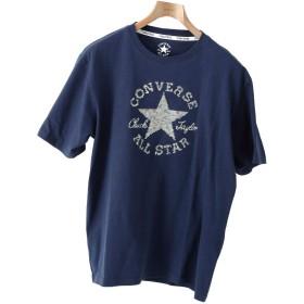 [コンバース] CONVERSE Tシャツ メンズ 半袖 半そで 刺繍 ロゴ おしゃれ ワンポイント 刺繍 春 チャックテイラー NAVY Lサイズ