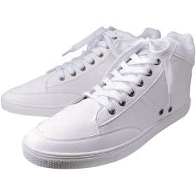 [スワンユニオン] メンズ スニーカー 7cm UP 靴 ハイブリッドブーツ NEOインソール付き シューズ ホワイト 白 j-kutu23-26-5