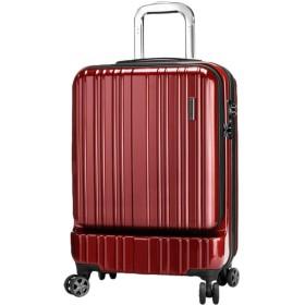 fanituhan スーツケース 機内持込 フロントオープン 20l ss ポリカーボネイト レッド 赤 超軽量 TSAロック 8輪 静音キャスター