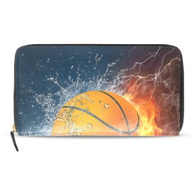 Mikyu(ミクョ)長財布 レディース かわいい 大容量 おしゃれ 10代 20代 ファスナー バスケットボール かわいい コインケース 小銭入れ さいふ 財布 プレゼント