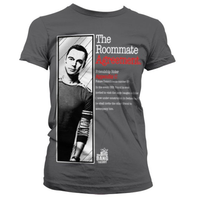 The Big Bang Theory T Shirt Roommate Agreement 新しい 公式 レディーズ Skinny Fit