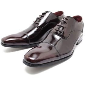 SARABANDE/サラバンド 7770 日本製本革ビジネスシューズ ロングノーズ・ストレートチップ ダークブラウンレザー※アドバン加工内羽/革靴/チゼルトゥ/ドレス/仕事用/メンズ/キングサイズ/5 pm 42/26.0,DarkBrown