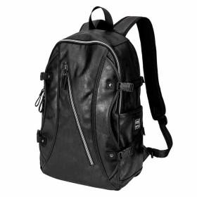 CQ ファッショナブルな大容量バックパック男性韓国語バージョン旅行バッグファッショナブルなレジャー学生バッグコンピュータバッグ (Color : Black, Size : 301546cm)