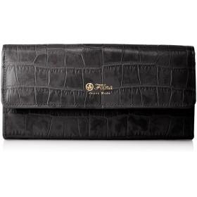 [フォルナ] クロコ型押し長財布 2993723 ブラッククロコ