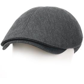(イリリリー)ililily 綿 コットン フラットキャップ キャビーハット ギャツビー アイビーキャップ アイリッシュ ハンチング帽 ニュースボーイ (Gray)