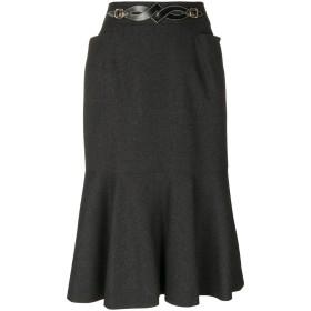 Hermès Pre-Owned バックルスカート - グレー
