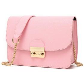 Tetote Link ショルダーバッグ 長財布も入る ゴールドチェーン おしゃれ ポシェット 結婚式 二次会 パーティー フォーマル バッグ レディース (ベビーピンク)s004-pink