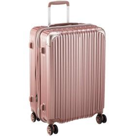 [シフレ] ハードジッパースーツケース キャリーケース 容量アップ拡張機能付 Mサイズ 中型 1年保証付 62-68L TRIDENT トライデント TRI2035-56 保証付 68L 3.8kg ライトピンク