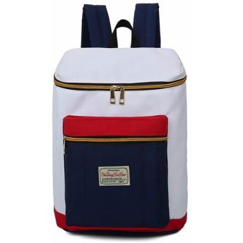 バックパック レディースリュック バッグ タウンスタイルリュックサック デイパック スクールバッグ CP0925 (ホワイト×ネイビー)