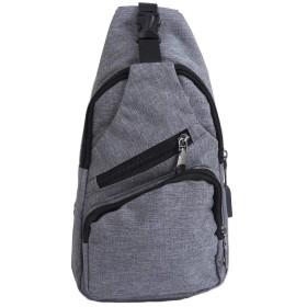 (アーケード) ARCADE バッグで携帯充電 USBポート搭載 ケーブル付 ショルダーバッグ メンズ ボディーバッグ 【Bタイプ】グレー