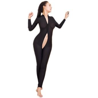 全身タイツ 単色 女性 ボディストッキング 穴あき が セクシー な オープンクロッチ ボディストッキング フリーサイズ