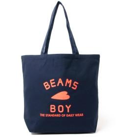 (ビームスボーイ)BEAMS BOY/トートバッグ/BB ロゴ TOTE BAG (L) レディース NAVY ONE SIZE