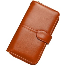 Amycute 長財布 レディース ウォレット カードケース 小銭入れ 二つ折り 大容量 ファスナー付 スマホ入れ可 プレゼント