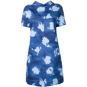 Marni フローラル シフトドレス - ブルー