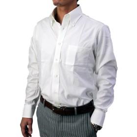 ドゥエボットーニ ボタンダウンシャツ 形態安定 (L, ホワイト)