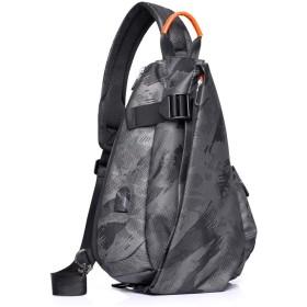 OBOC ワンショルダーバッグ ボディバッグ メンズ おしゃれ 斜めがけバッグ Pad mini 収納可 USBポート 付き チェストパック軽量 ガジェットバッグ 通勤 旅行パック
