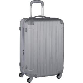 [アウトレット品]【レジェンドウォーカー】LEGEND WALKER スーツケース キャリーケース キャリーバッグ M サイズ カラフル 拡張 ファスナー 中型 TSAロック 傷が目立ちにくい ハードキャリー ハードケース ジッパー B-5082-60 シルバー