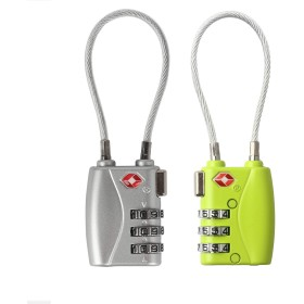 Wexbin 旅行用 TSAトラベルロック スーツケース 荷物のセキュリティ 3桁の組み合わせ番号式 2個セット (銀&グリーン)