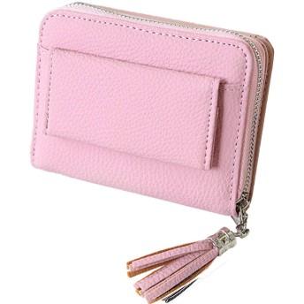 [mikketa] ミニ財布 レディース 財布 ミニ スキミング防止 タッセル ピンク