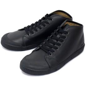 [スプリングコート] B2N-V5 B2 Leather (B2レザー) メンズ ハイカットスニーカー BLACK (ブラック) SPC016-45-約29.0cm-29.5cm