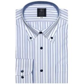 ブリックハウス ワイシャツ 長袖 形態安定 ボタンダウン 標準体 メンズ BM019300AK12B1A-14 ブルー S-80
