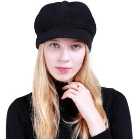 DORRISO 新しい 流行り ニット 帽子 ベレー 帽子旅行 無地 通気性 ハット春秋冬 レディース キャップ ウール