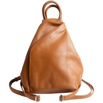 MALTA リュック レディース 本革 3way リュックサック 小さめ 鞄 柔らかい 牛革 レザー バックパック 軽量 肩掛け ショルダーバッグ 斜め掛け 持ち手 おしゃれ 通勤 ブラウン