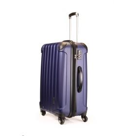 スーツケース TSAロック 超軽量 KT063F SS M L SUITCASE SSサイズ完全機内持ち込み M Lサイズ容量UP 4輪360度回転静音キャスター YKK 旅行カバン キャリーケース 旅行用品 国内海外 修学旅行海外留学 ビジネスバック キャリーバック (L 大型, ミッドナイトブルー)