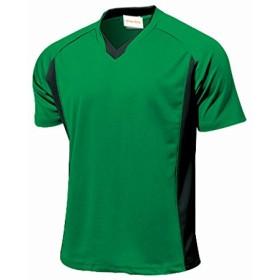 prime style 全11色 ベーシック 半袖 サッカーシャツ 練習着 ユニホームベース フットサルチームシャツ 作製ベース用にも グリーン 130cm