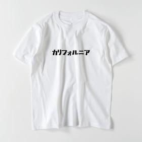 綿生地 ロゴT 半袖Tシャツ カタカナロゴ「カリフォルニア」