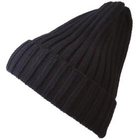 (カジュアルボックス) ニット帽 RIB ブリティッシュウール ワッチ 日本製 ユニセックス フリーサイズ ブラック