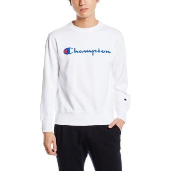 [チャンピオン] (旧モデル) スクリプトロゴクルーネックスウェットシャツ ベーシック C3-H004 メンズ ホワイト 日本 S (日本サイズS相当)