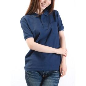 ティーシャツドットエスティー ポロシャツ 半袖 無地 鹿の子 ポケット付き 5.8oz レディース ネイビー SS