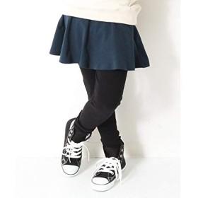 デビロック(devirock) 子供服 スカッツ キッズ 韓国子供服 女の子 ポケット付きスカッツ 10分丈 スカート付きレギンス【ネイビー/160】