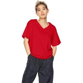 [ウィゴー] Tシャツ SILKCOTTON VネックT(S) レディース レッド 日本 M (日本サイズM相当)