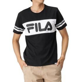 FILA(フィラ) 袖ラインバイカラーTシャツ FH7327 メンズ ブラック:L