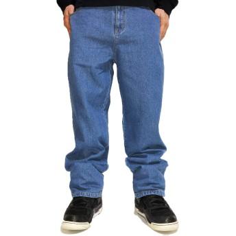 大きいサイズ デニムパンツ メンズ イージーパンツ デニム パンツ キングサイズ 2L 2XL ゆったり ジーパン サックス