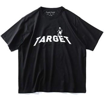 DANIEL DODD 半袖 Tシャツ オーガニック プリント 半袖Tシャツ TARGET azt-190230 大きいサイズ メンズ【990.ブラック-8L】