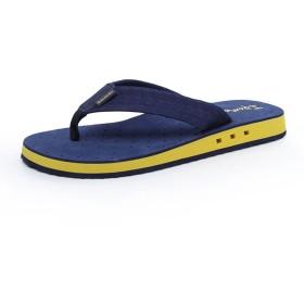 [XINXIKEJI] ビーチサンダル トングサンダル メンズ おしゃれ 無地 25.0~27.0cm EVA 夏用靴 厚底 防水 通気 滑り止め 耐磨 痛くない 疲れない 履きやすい 普段履き 海 海水浴 プール ブルー 27.0cm