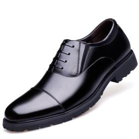 [ONE MAX] 革靴 ビジネスシューズ メンズ 紳士靴 本革 ストレートチップ レースアップ 内羽根 フォーマル 通勤 通学 おしゃれ