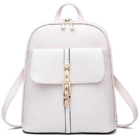 [ルナー ベリー] リュック サック 大人 かわいい バックパック PUレザー 大容量 バッグ レディース 111 (ホワイト) 旅行 鞄 カバン リュックサック ナップサック サップザック 防水 女の子 しろ 白 111 (ホワイト)
