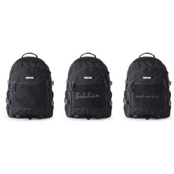 Bubilian Two Much 3D Backpack リュックバッグバックパック大容量旅行通学遠足ユニセックスバッグ多機能バッグ(海外直送品) (black)
