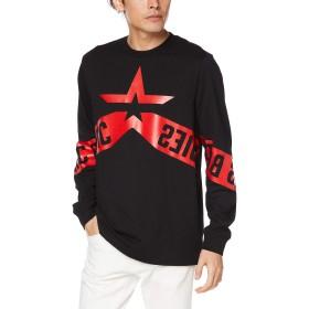 (ディーゼル) DIESEL メンズ Tシャツ 長そで グラフィックTシャツ 00SY8B0PATI M ブラック 900