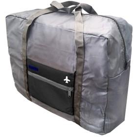 Viaggio+ 折りたたみ バッグ キャリーオン ボストンバッグ 旅行鞄 大容量 海外旅行 トラベルバッグ (ブラック)