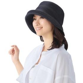 岡山児島デニムのおでかけ帽子インディゴブルー