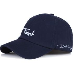 [Lovechic] 帽子 キャップ メンズ アルファベット 黒 白 おしゃれ 人気 かっこいいキャップ 56-60cm(0516-ネイビー-2)