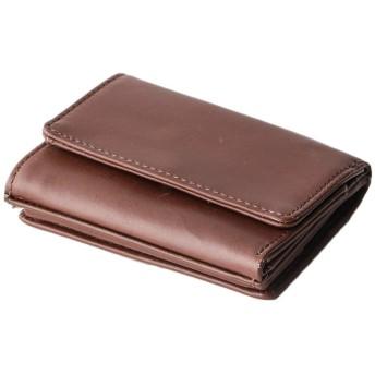 [Boosters] ブースターズ 三つ折り財布 ミニ 財布 メンズ 本革 カード 小さい ダークブラウン
