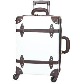 MOIERG(モアエルグ)軽量 キャリーバッグ キャリーケース スーツケース 【81-55082-29】(S, シロ×ブラウン) 修学旅行