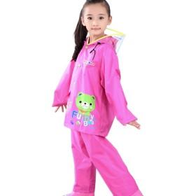 (キュミオ) QeMIO レインスーツ 上下セット キッズ レインコート レインウェア ランドセル対応 通園 通学 雨具 防水 防風 男の子 女の子
