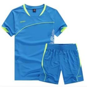 YDY(ワィディワィ)スポーツウェア メンズ ランニングウェア 2点セット メンズ タイツ 上下 ジャージ フィットネス トレーニング 吸汗速乾 (L, ライトブルー)